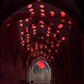 Pavel Mrkuss red installation will be a gothic ambition to decorate until Sunday