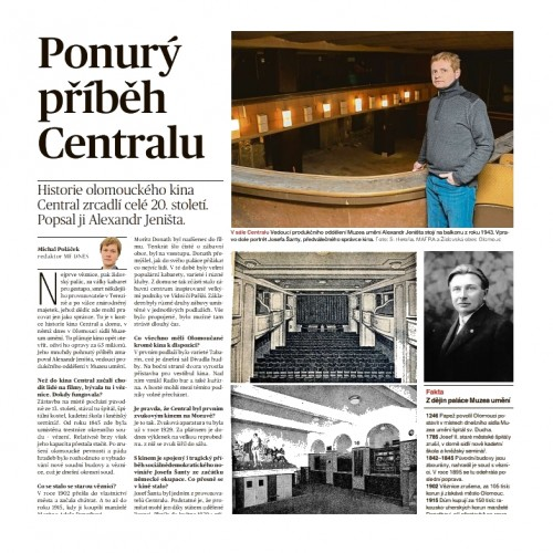 The history of Kino Central was described by Alexandr Jeništa